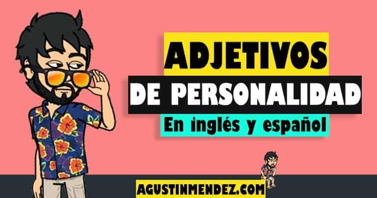 adjetivos de personalidad en ingles y español