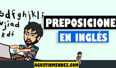 Preposiciones en ingles y español más comunes