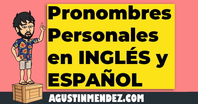 pronombres personales en ingles y español