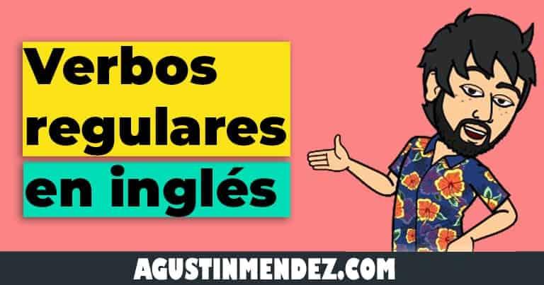 verbos regulares en ingles y español